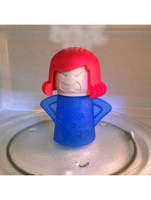 الإبداعية لطيف غاضب أمي المطاط الميكروويف البخار منظف لوازم المطبخ - أزرق