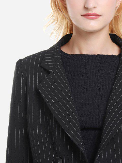 ZAN.STYLE Pinstripe Blazer - Schwarzer Streifen L Mobile