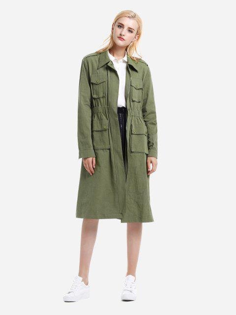 ZAN.STYLE Utility Trench Coat - 軍綠色 M Mobile