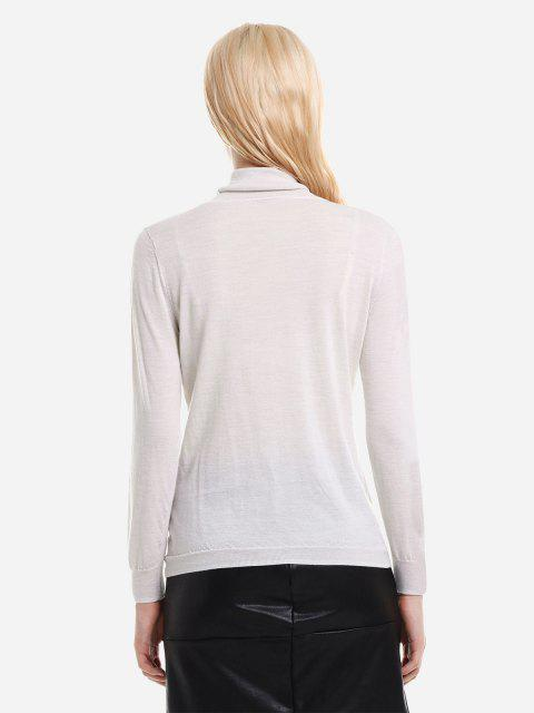 ZAN.STYLE Gerippter Wolle Rollkragen Pullover - Aprikose S Mobile