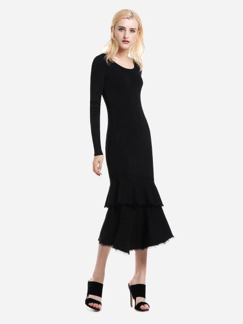 unique ZAN.STYLE Long Sleeve Slim Fit Sweater Dress - BLACK L Mobile