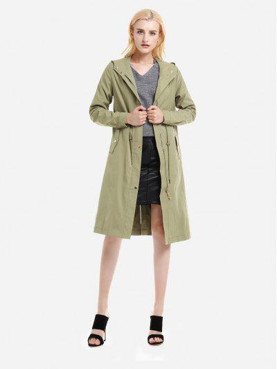 Image of Hooded Trench Coat
