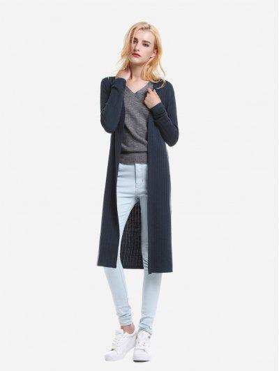 ZAN.STYLE Slim Fit Long Sleeve Cardigan - Royal Blue M