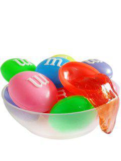 24PCS DIY Crystal Mud Blow Bubbles Letter M Style Plasticine Toy For Children