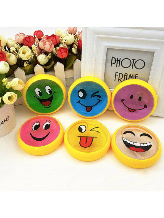 hot 1PC DIY Crystal Mud Blow Bubbles Smiling Face Style Plasticine Toy for Kids - COLORMIX