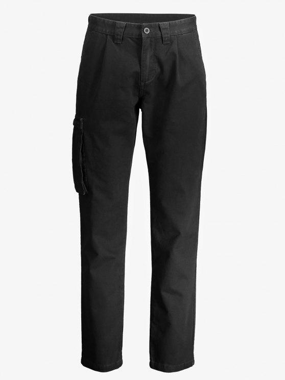 ZANSTYLE Men Side Pocket Belted Pants - ブラック 34
