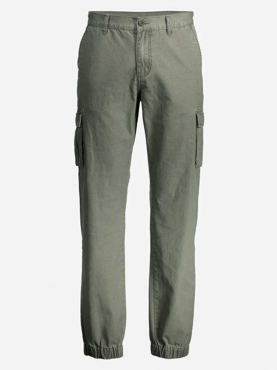 unique ZAN.STYLE Men Slim Cargo Pants - ARMY GREEN 38