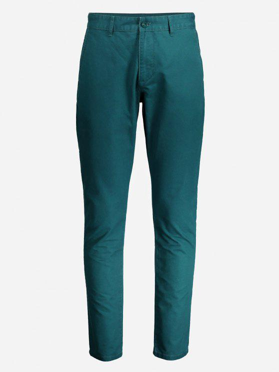 buy ZANSTYLE Men Slim Pants - GREEN 32