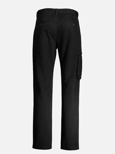 women ZANSTYLE Men Side Pocket Belted Pants - BLACK 35 Mobile