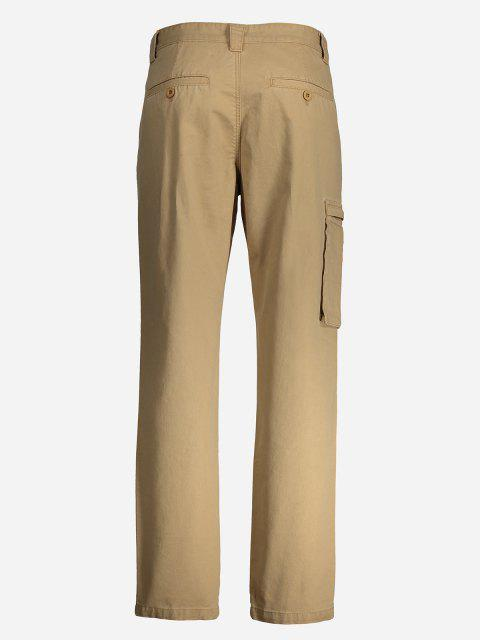 outfit ZANSTYLE Men Side Pocket Belted Pants - KHAKI 36 Mobile