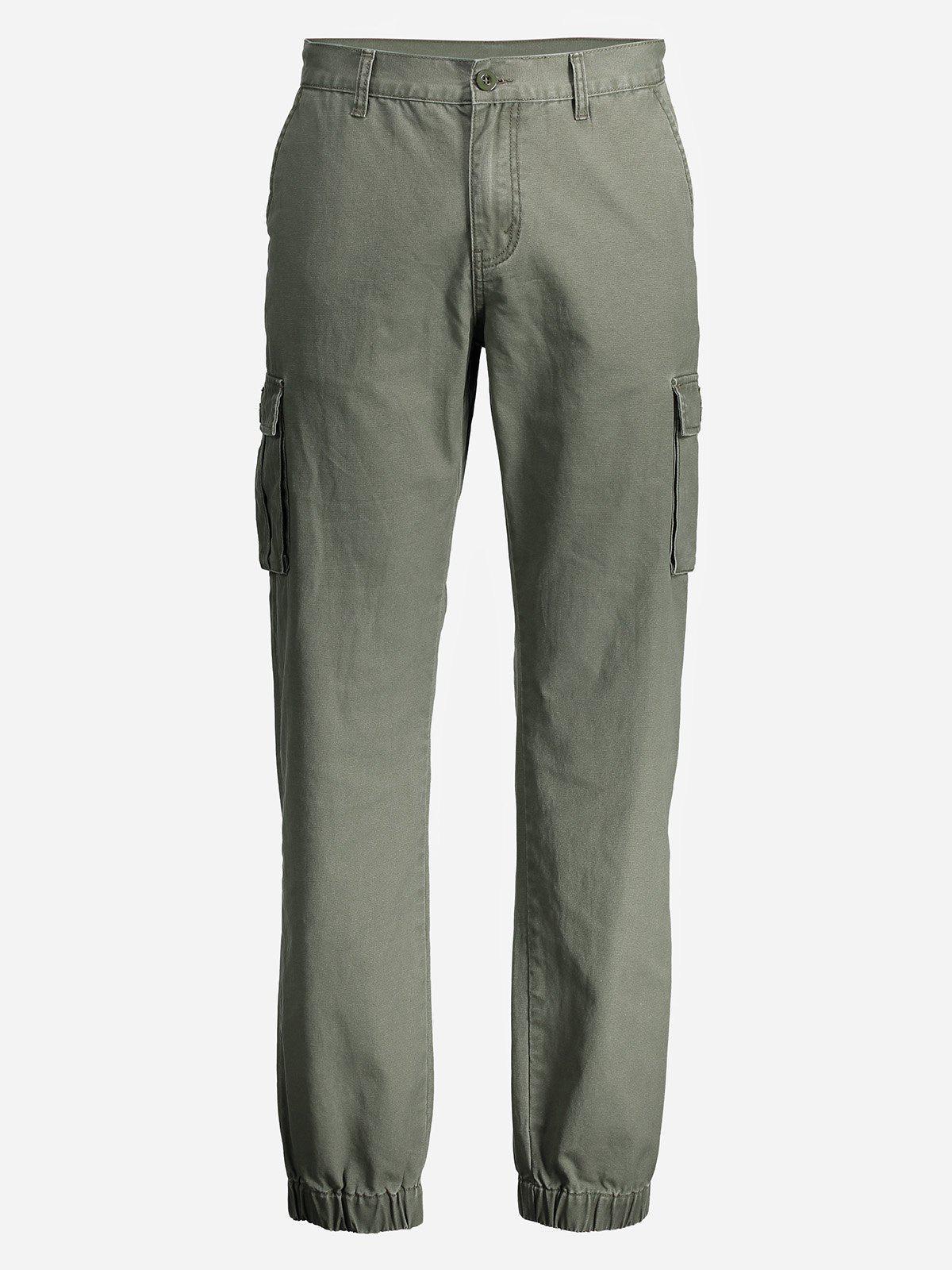ZAN.De los Hombres del ESTILO Delgado Pantalones de Carga