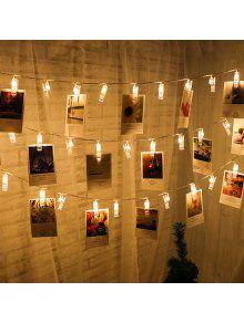 ليد 20pc-كليب ضوء سلسلة أضواء دافئة الأبيض أضواء الديكور - دافئ الضوء الأبيض
