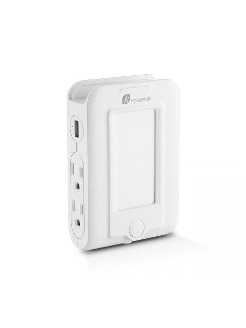 Chargeur Mural USB avec LED à Détection de Luminosité - Blanc  Mobile