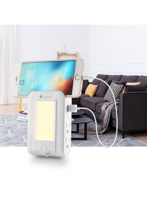 Houzetek Wandhalterung USB Ladegerät LED Sensor Nachtlicht - Weiß  Mobile