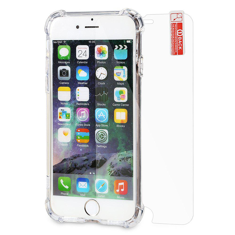 Protective Kit for iPhone 7 8 Phone Case Screen Protector TPU Soft Anti drop Cover Tempered Glass Film 230393901