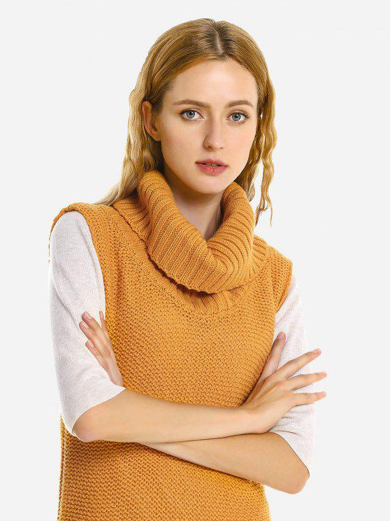 Saia sem mangas Sweater Jumper - Amarelo Gengibre XL