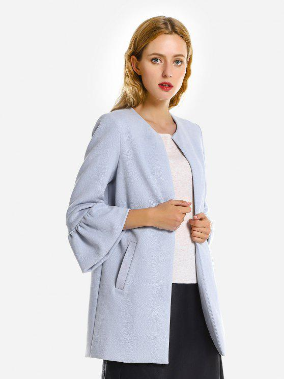 chic ZAN.STYLE Bell Sleeves Coat - LIGHT BLUE 2XL