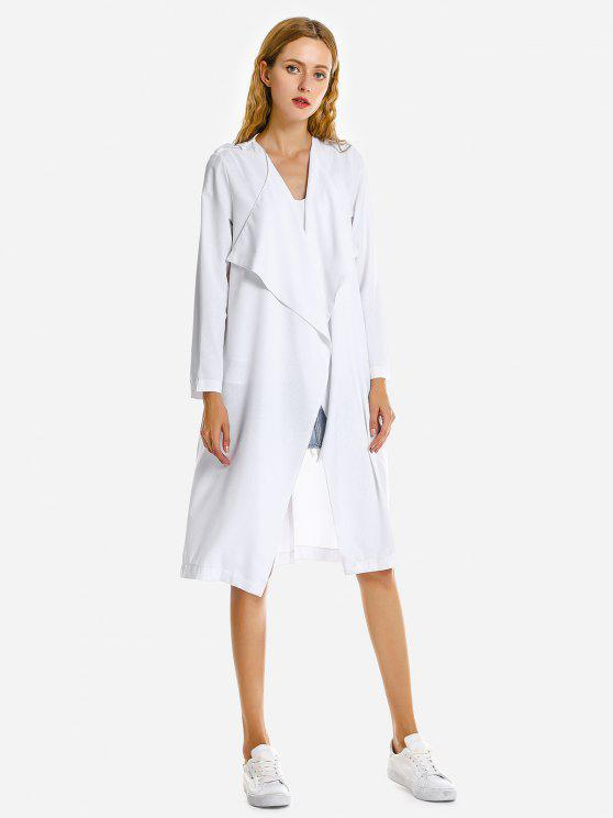 chic ZAN.STYLE Casual Loose Coat - WHITE S