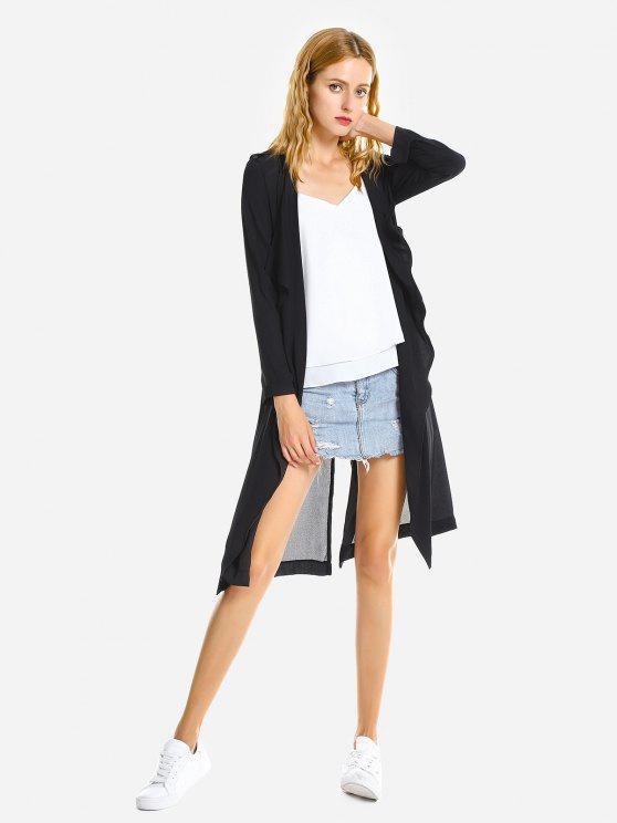 outfits ZAN.STYLE Casual Loose Coat - BLACK L