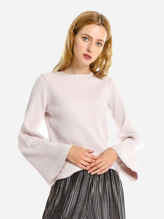 ZAN.STYLE Belled Hülsen-Pullover Pullover - Beige Eine Größe