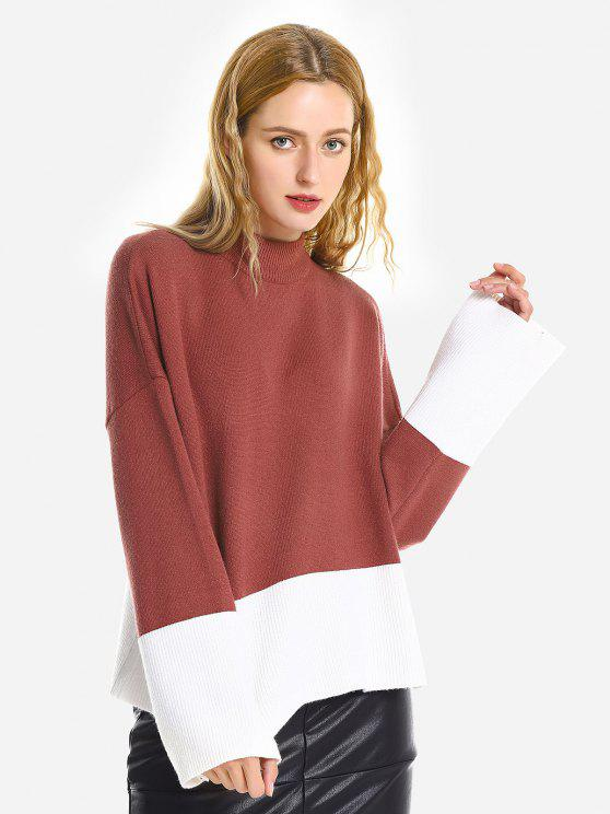buy ZAN.STYLE Loose Pullover Sweater - BRICK-RED ONE SIZE