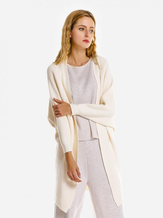women ZAN.STYLE Loose Sweater Coat - WHITE