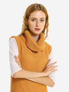 ZAN.STYLE Sleeveless Sweater Jumper Skirt - Ginger M