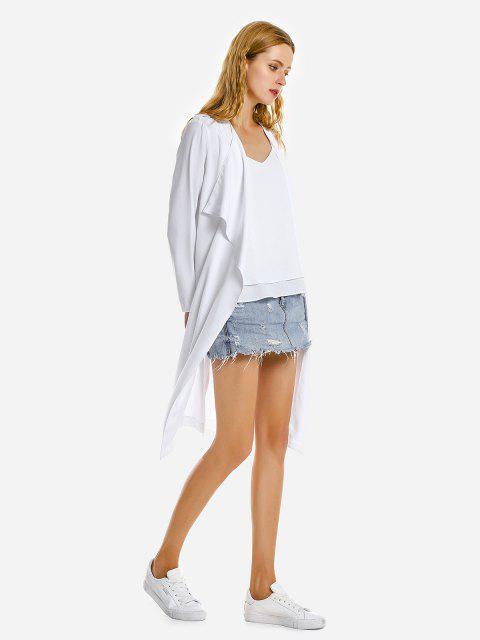 عارضة معطف فضفاض - أبيض XL Mobile