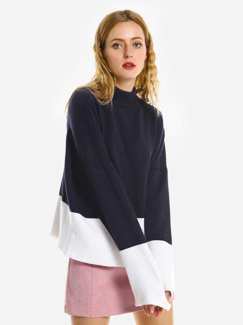 ZAN.STYLE Lose Kapuze Sweater - Kadettenblau Eine Größe Mobile