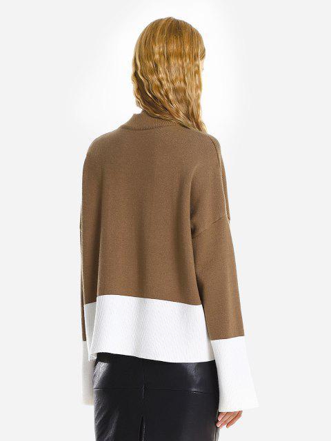 Camisola Desproporcional Rasgada Com Gargantilha Solta - Cor de Açúcar Querid Um Tamanho Mobile