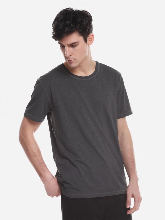 ZAN.STYLET-Shirtà Col Rond - Gris Anthracite 2XL