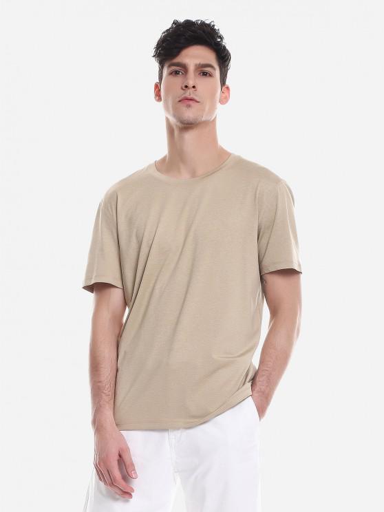 ladies ZAN.STYLE T Shirt Crew Neck - KHAKI XL