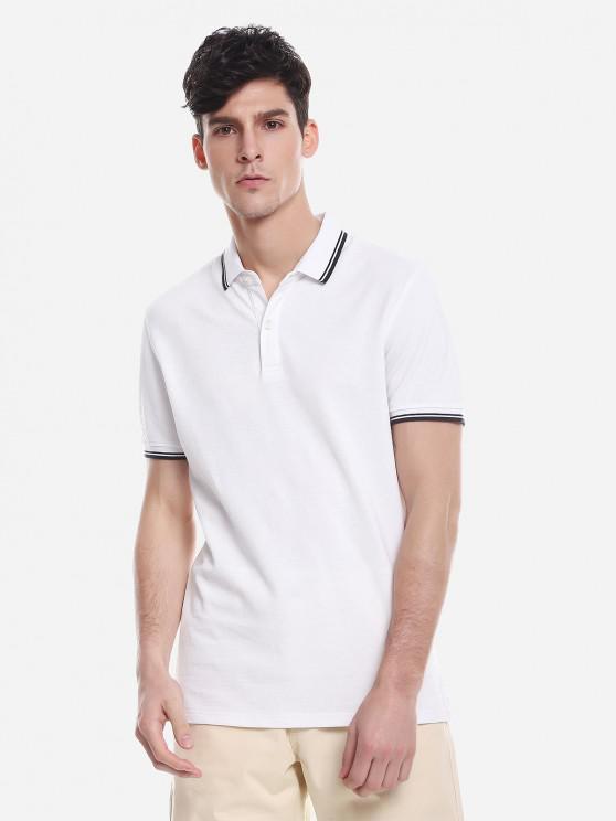 online ZAN.STYLE Contrast Color T Shirt - WHITE XL
