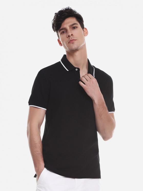 Color de contraste camiseta - Negro M