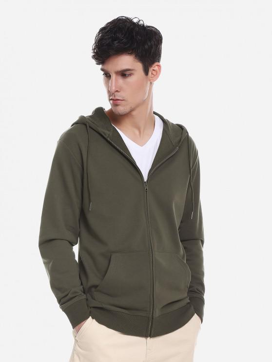 womens ZAN.STYLE Pocket Hooded Sweatshirt - ARMY GREEN L