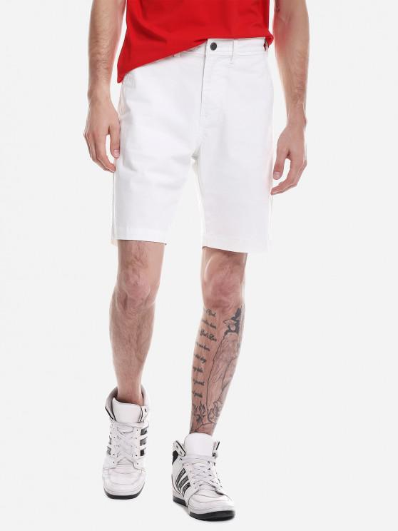 chic ZAN.STYLE Zip Fly Shorts - WHITE 34