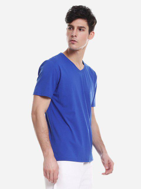 ZANSTYLE Camiseta para Hombre - Azul Claro 2XL Mobile