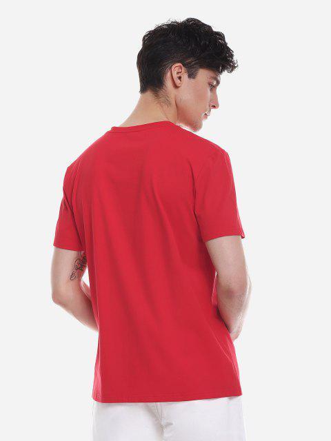 ZANSTYLE Camiseta para Hombre - Rojo 2XL Mobile