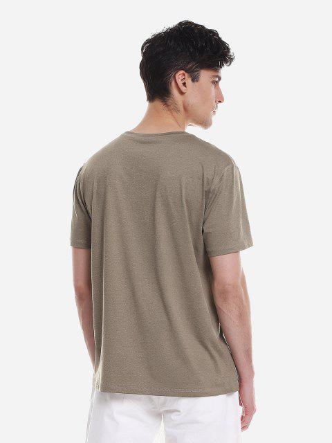 fashion ZAN.STYLE T Shirt Crew Neck - DARK KHAKI XL Mobile