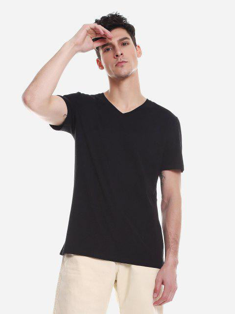 ZANSTYLE Camiseta para Hombre - Negro L Mobile