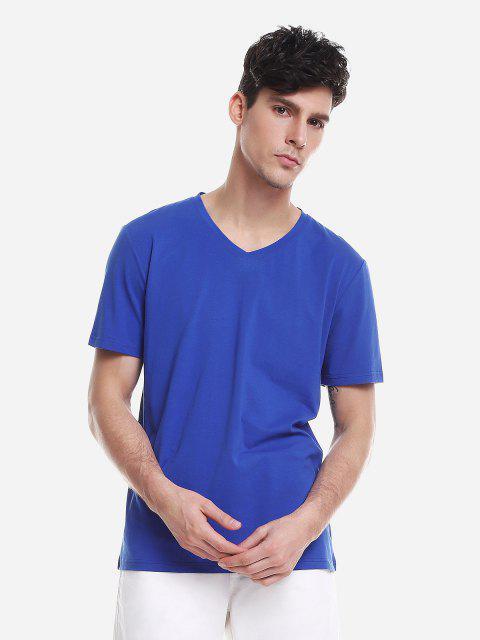 ZANSTYLE Camiseta para Hombre - Azul Claro XL Mobile