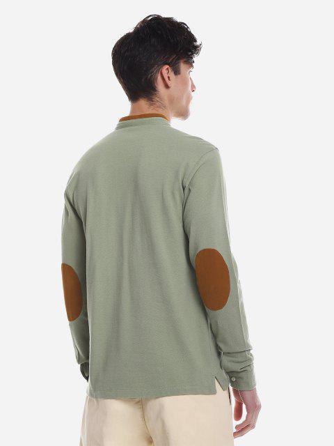 ZANSTYLE Camiseta de Cuello Alto de Color de Contraste - Guisante Verde 2XL Mobile