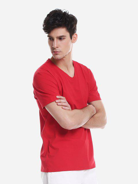 ZANSTYLE Camiseta para Hombre - Rojo L Mobile