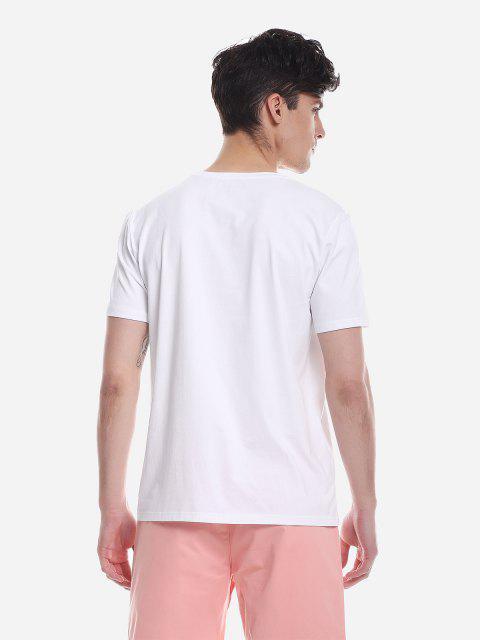 ZANSTYLE Camiseta para Hombre - Blanco 2XL Mobile