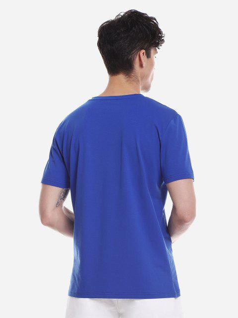 latest ZAN.STYLE T Shirt - CERULEAN L Mobile