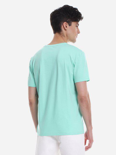 ZANSTYLE Camiseta para Hombre - Verde M Mobile