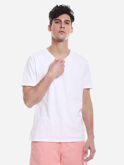 ZANSTYLE Camiseta para Hombre - Blanco L Mobile