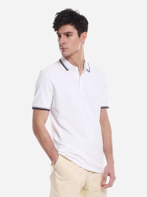 Camiseta Camo De Manga Comprida Estampa Geometrica - Branco M Mobile