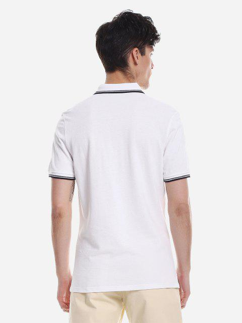 Camiseta Camo De Manga Comprida Estampa Geometrica - Branco XL Mobile