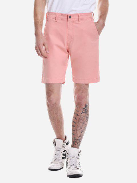 ZANSTYLE Pantalones Cortos con Cremallera - Naranja Rosa 32 Mobile
